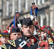 The Piper - Royal Scots Dragoon Guards by Chris Clark
