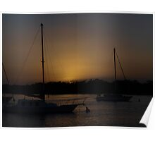 Paradise Point  Moody Evening Sunset Poster