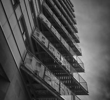 Balconies - Mono by Glen Allen