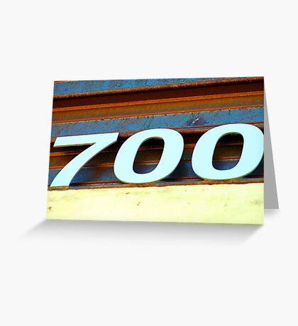Seven Hundred Greeting Card