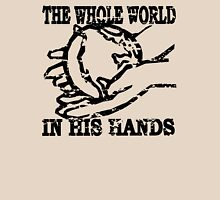 THE WHOLE WORLD IN HIS HANDS Womens Fitted T-Shirt