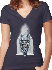 The Game of Kings, Wave One: The White King Women's Fitted V-Neck T-Shirt