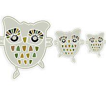 Eco Friendly Owl Family Hootenanny by © Karin  Taylor