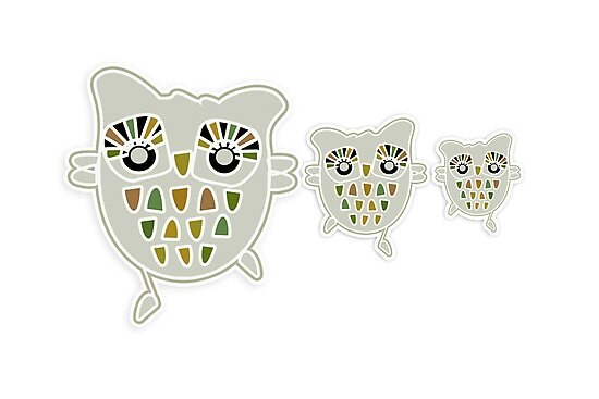 Eco Friendly Owl Family Hootenanny by © Karin Taylor