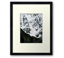 Massive Ice Avalanche Framed Print