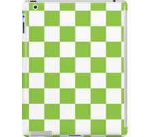 Green Checkerboard iPad Case/Skin