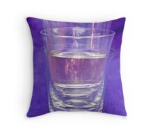 One Glass Half Full Throw Pillow