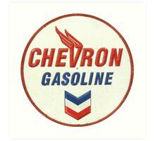 Chevron retro Art Print