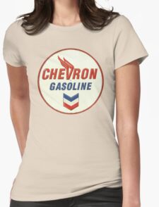 Chevron retro Womens Fitted T-Shirt