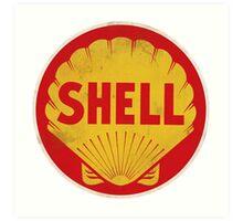 Shell retro Art Print