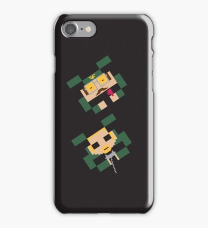 SPACED INVADERS (MIKE & TIM) iPhone Case/Skin