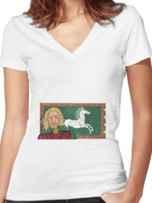 King Theoden Women's Fitted V-Neck T-Shirt