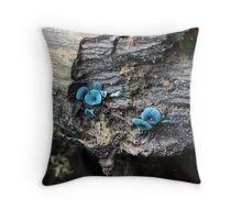Little Blue Cups Throw Pillow