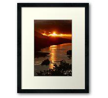 Queens View Sunset Framed Print