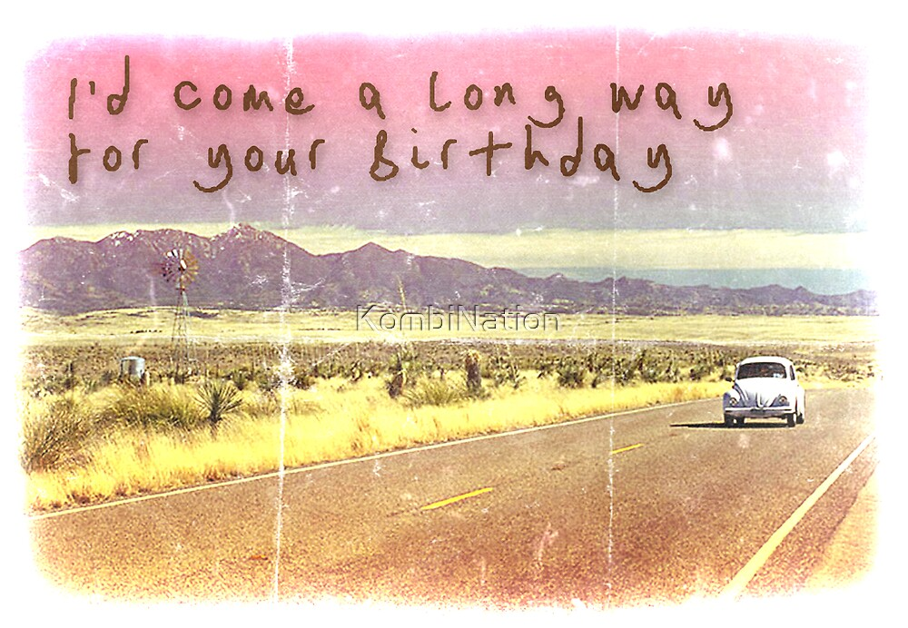 Volkswagen Kombi Greeting Card - Happy Birthday  by KombiNation
