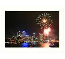 Harbour Fireworks Art Print