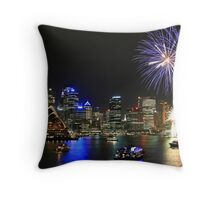 More Harbour Fireworks Throw Pillow