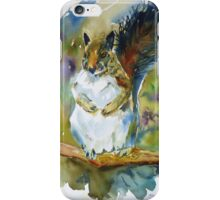 Squirrel in a Posey Patch iPhone Case/Skin