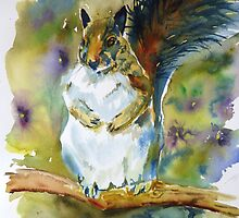 Squirrel in a Posey Patch by twopoots