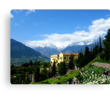 Mountains and Castle - And the Empress Sissi Canvas Print