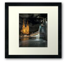 Wet Night on the Edge of the City Framed Print