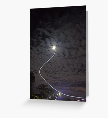 It came down from above.....  Greeting Card