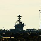 AMERICAN AIRCRAFT CARRIER OFF FREMANTLE by Marinapallett