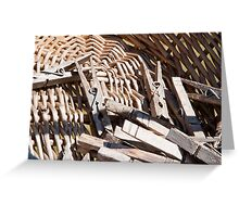 Clothespins Greeting Card