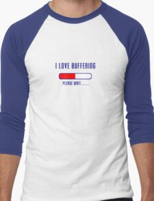 Buffering Please Wait T-shirt - Application File Loading Men's Baseball ¾ T-Shirt