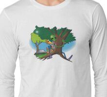 hug a tree and feel better Long Sleeve T-Shirt