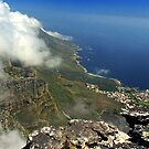 Looking down on Capetown from Table Mountain by Bev Pascoe