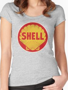 Shell retro Women's Fitted Scoop T-Shirt