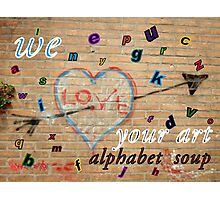 Banner Alphabet Soup Photographic Print