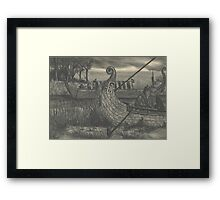 Viking Raiders Hideout Framed Print