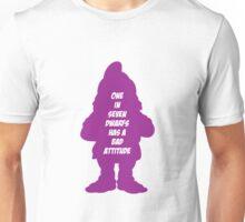 1 in 7 dwarfs has a bad attitude Unisex T-Shirt