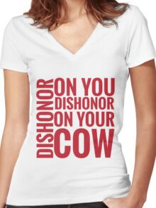 DISHONOR! Women's Fitted V-Neck T-Shirt