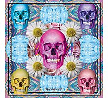 CANDY COLORED SKULL BBS Photographic Print