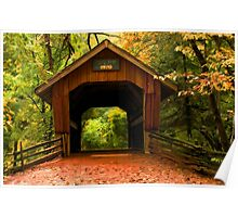Covered Bridge,Little Hope Wisconsin  Poster