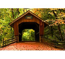 Covered Bridge,Little Hope Wisconsin  Photographic Print