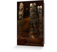 Totem poles at the Royal british museum Greeting Card