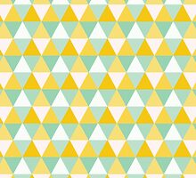Colourful Yellow Triangles Pattern by DonCorgi