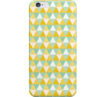 Colourful Yellow Triangles Pattern iPhone Case/Skin
