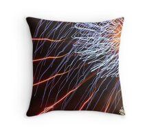 Firework Abstract Art Throw Pillow
