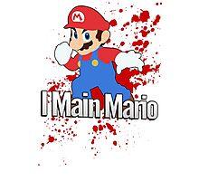 I Main Mario - Super Smash Bros. Photographic Print