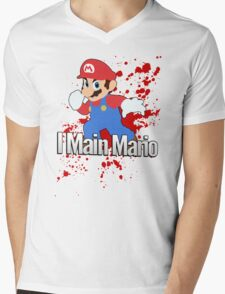 I Main Mario - Super Smash Bros. Mens V-Neck T-Shirt