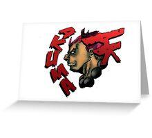 AKUMA STREET FIGHTER Greeting Card