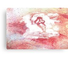 Ghostface in the Clouds Canvas Print