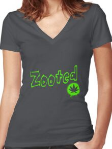 Zooted Women's Fitted V-Neck T-Shirt