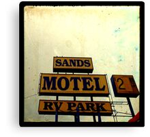 Sands Motel Canvas Print