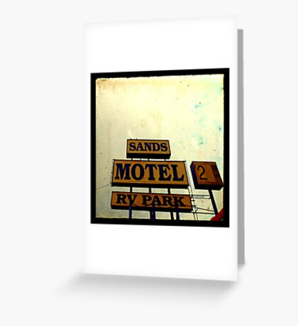 Sands Motel Greeting Card